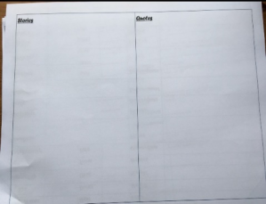 story sheets